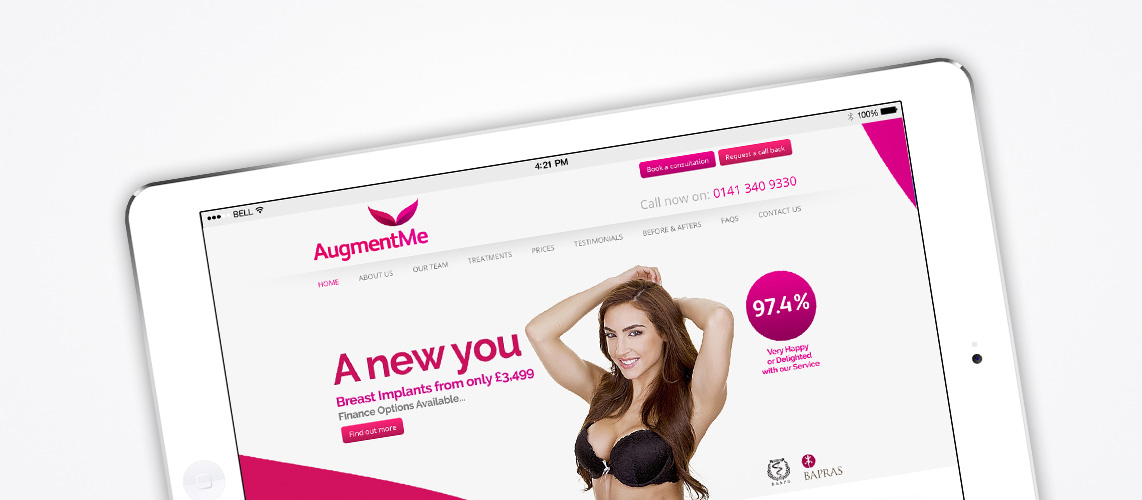 Augment Me - SEO and PPC Services Client Glasgow