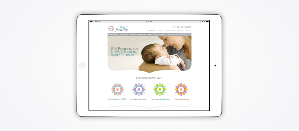 Hope Fertility - Website Development Client