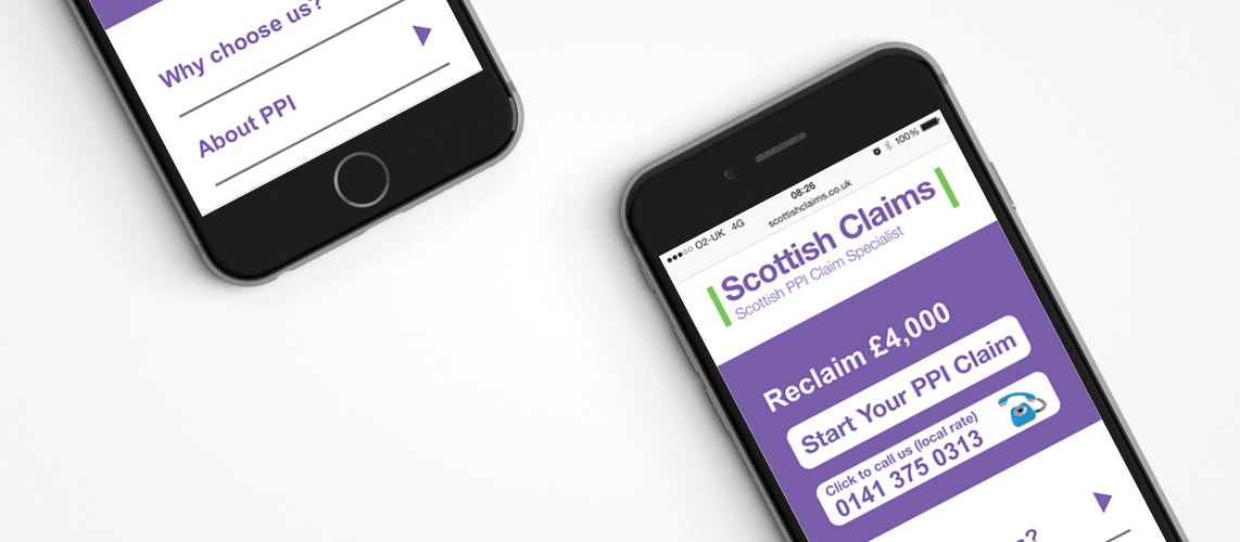 Scottish Claims - SEO & PPC Services Client